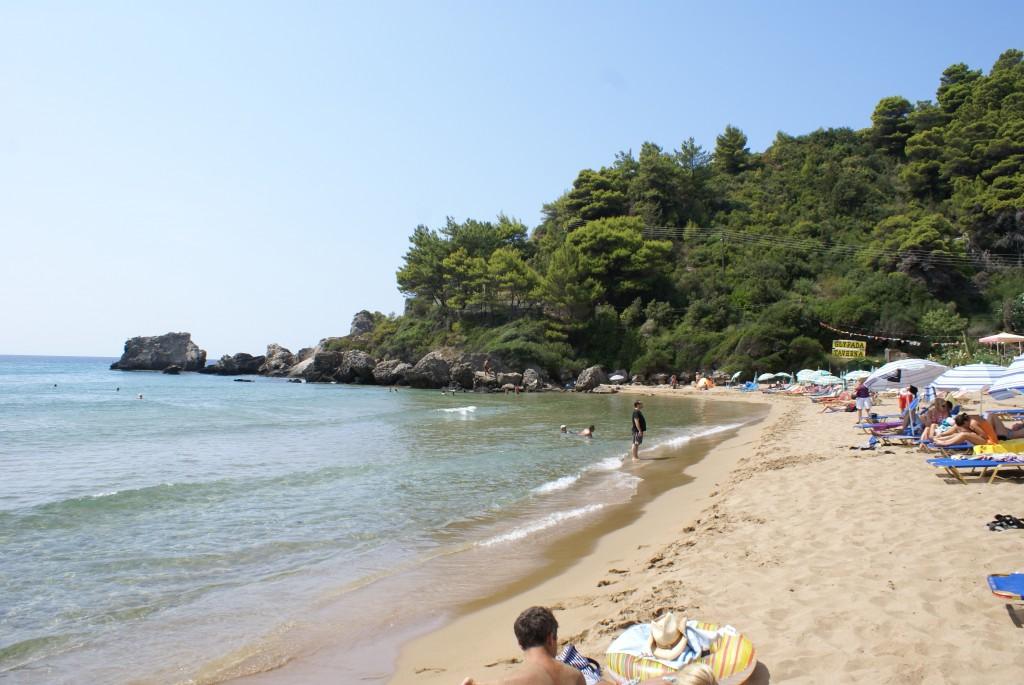 Strand von Glyfada, Korfu, Griechenland, Korfu Ferienhaus Villa Rosemarie, KorfuCorfu.de
