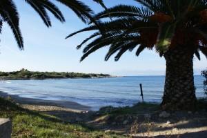 Strand von Agios Spiridon in der Nähe der Korfu Villa Sankt Nikolas Strandhaus, Agios Spiridon, KorfuCorfu.de