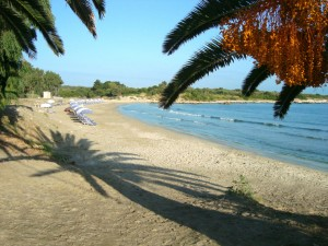 Strand von Agiios Spiridon, Korfu Villen Thalia, Agios Spiridon, Korfu, Griechenland, KorfuCorfu.de
