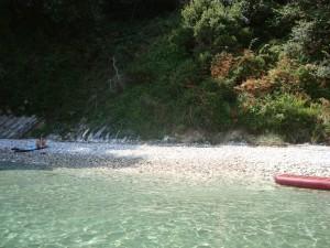 Privatstrand - Korfu Villen Thalia, Agios Spiridon, Korfu, Griechenland, KorfuCorfu.de
