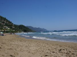 Strand von Pelekas, Korfu, Griechenland, Korfu Ferienhaus Villa Rosemarie, KorfuCorfu.de