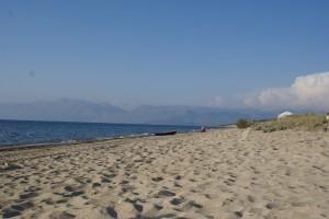Strand von Almiros, Korfu, Griechenland, in der Nähe der Korfu Luxusvilla Villa Steilküste, KorfuCorfu.de