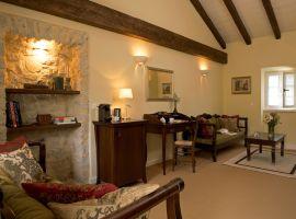 Wohnraum einer Suite im Obergeschoss -