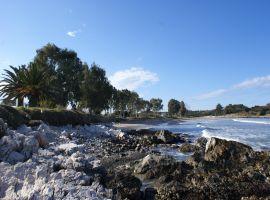 Strand von Agios Spiridon, Korfu Ferienwohnung Flora, Acharavi, Korfu, Griechenland, KorfuCorfu.de